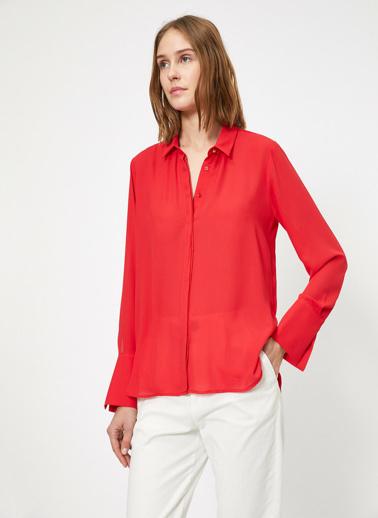 Koton Klasik Yaka Gömlek Kırmızı